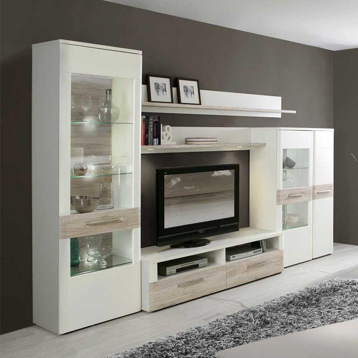 best 25+ schrankwand weiß ideas on pinterest - Wohnzimmerschrank Modern Wohnzimmer
