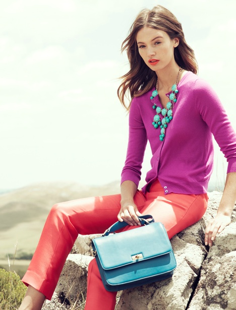 coral, magenta, & turquoise {j.crew march 2012}