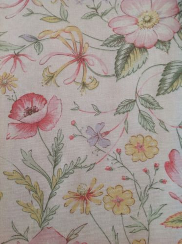 Beautiful Country Fabric Remnant.Heavy Fabric