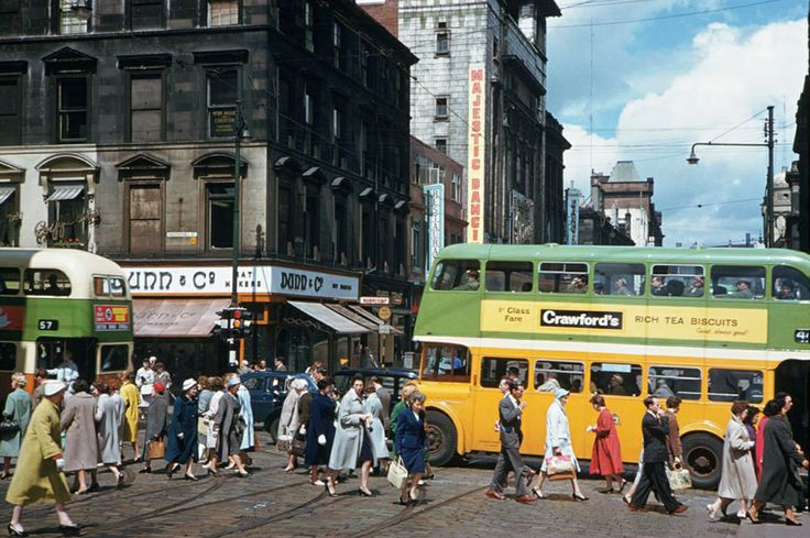 Corner of Hope Street and Sauchiehall Street - June 1961