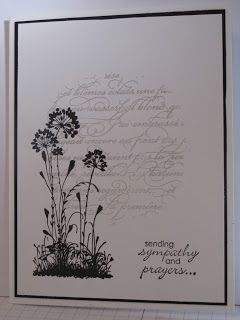 Wednesday, January 30, 2013  Serene Silhouettes Sympathy card