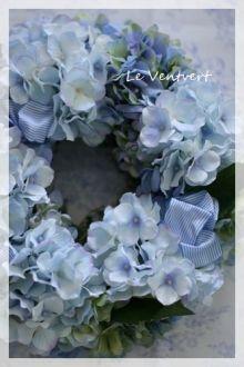 紫陽花のリース アーティフィシャルフラワー