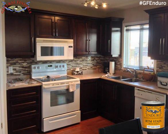 General Finishes Loves This Kitchen Makeover These Cabinets Were Stained With Gf S Ready To Match