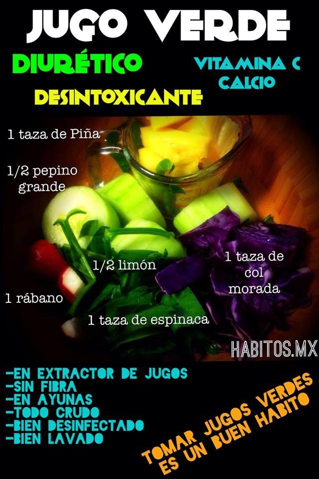 Jugo detox y diurético