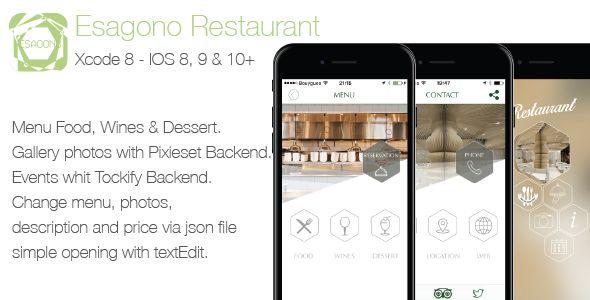 nice Restaurant Esagono IOS Template (iOS)