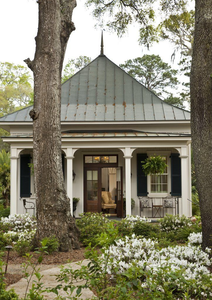 One of two dreamy guest cottages at Paula Deen's Savannah estate.