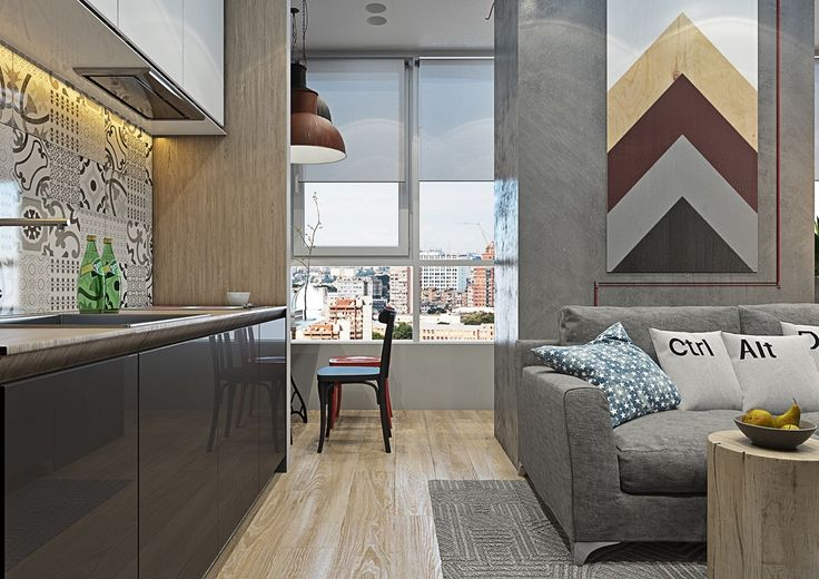 grey wood and texture living room feature speed bump wall lacquered grey kitchen cabinets