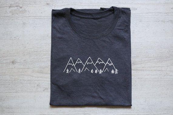Mountains tee t-shirt shirt adult unisex soft tri-blend by wear2me