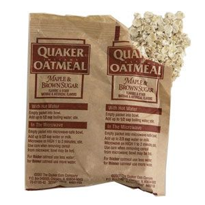 """Iinstant oatmeal. It makes a great facial mask because it's so soothing and hydrating. Mix a couple pumps of cleanser with a palmful of dry oats and pack it on skin. After five minutes, rinse. Skin should feel tighter, smoother, and moisturized."""" -Women's Health"""