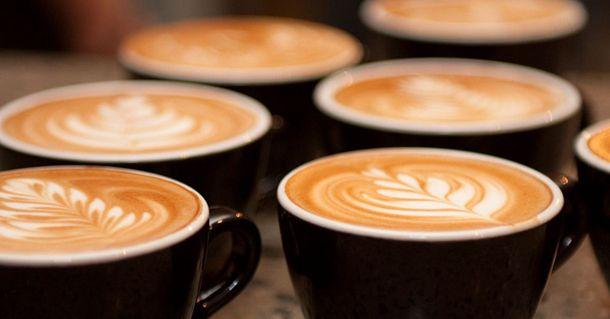 Coffee mocha art