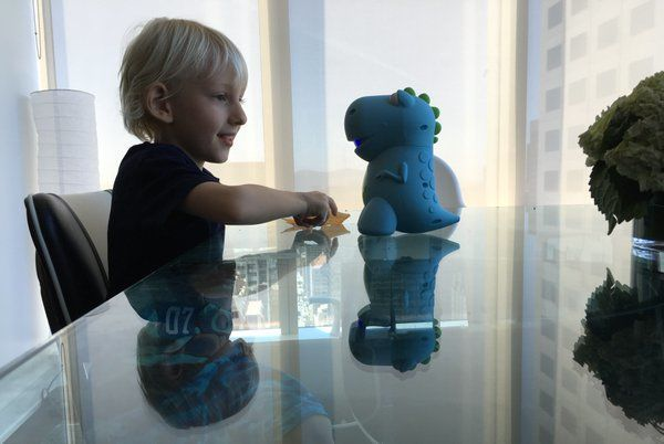 Our blue CogniToys Dino making a new friend! =)