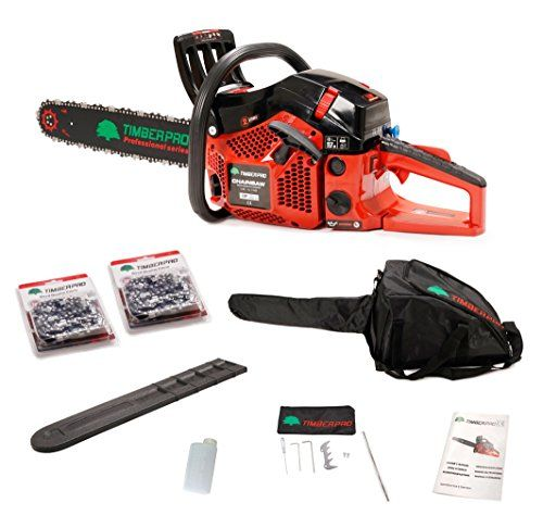 """TIMBERPRO Professional Series 62cc Petrol Chainsaw with 20"""" Bar and 2 Chains, Full Kit with 2 Year Warranty.---149.99---"""