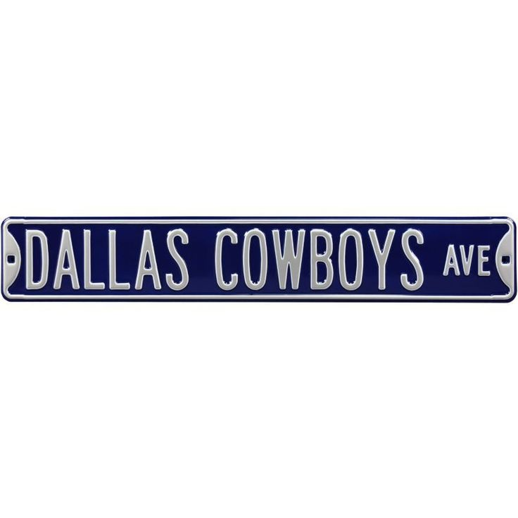 Authentic Street Signs Dallas 'Cowboys Country' Street Sign, Team