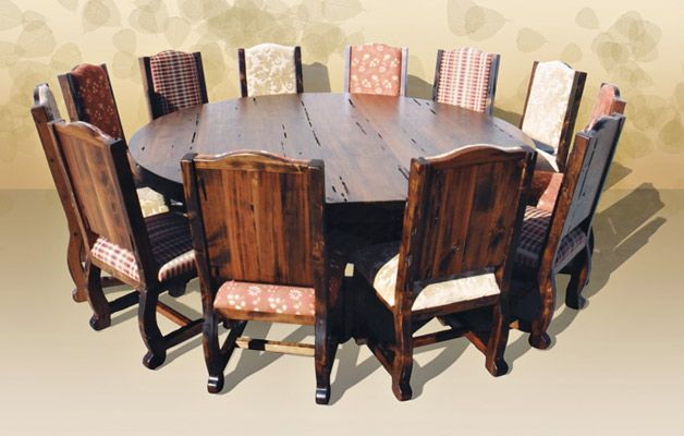 Nothing I want more when I have my own house than a big circular table for family dinner. The hodge podge of chair material is adorable!