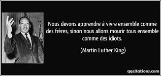 Quote in French MLK Jr.