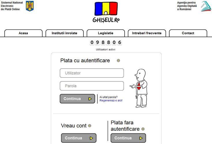 Noutate majora in Ghiseul.ro: Contribuabilii persoane fizice pot obtine online datele de acces in sistem pentru a-si plati prin internet amenzile, taxele si impozitele locale - Telecom - HotNews.ro