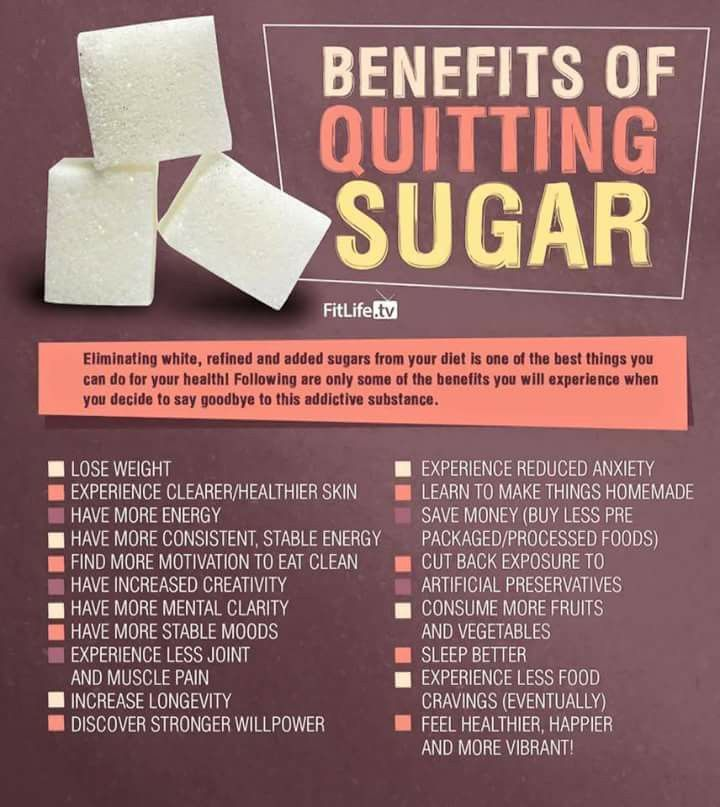 Benefits of quitting sugar.