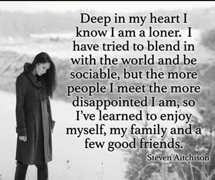 Happy loner