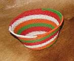 Green,Red,white telephone wire bowl