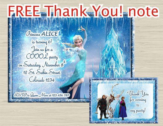 Disney FROZEN invitation  Frozen birthday Invitation  by UNIQcards
