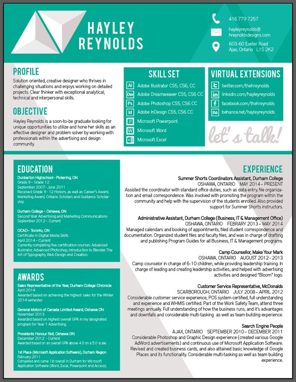 10 Best Images About Personal Branding / Resumes On Pinterest