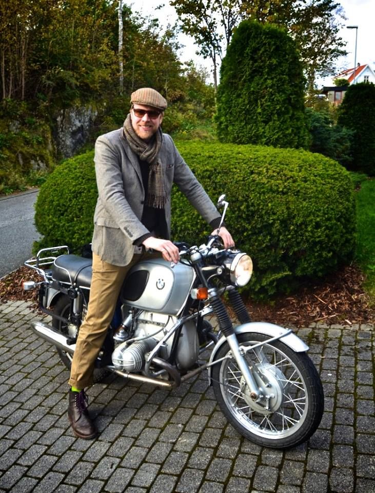 Ryan is wearing a large lambswool scarf, and tweed cap from W Bill - both from our collection. He is also sporting footwear from Koronya Handmade Shoes and Boots of Budapest. For you bikers our there, Ryan is riding his vintage 1971 BMW R75/5.