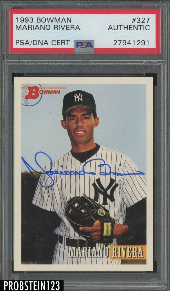 1993 Bowman 327 Mariano Rivera Yankees Rc Rookie Signed