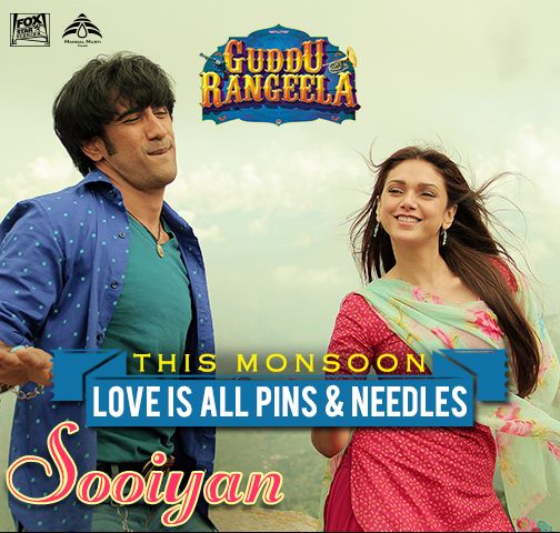 The Monsoon calls for some romance! Tune in to #Sooiyan, the brand new song from #GudduRangeela sung by Arijit Singh Official & Chinmayi Sripada ft. Amit Sadh & Aditi Rao Hydari --> http://whilemusic.com/guddu-rangeela-2015-19635