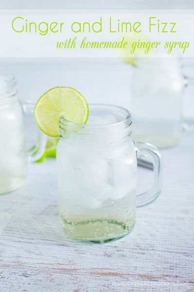 Ginger and lime fizz (with homemade ginger syrup) - Recipe by @ ...