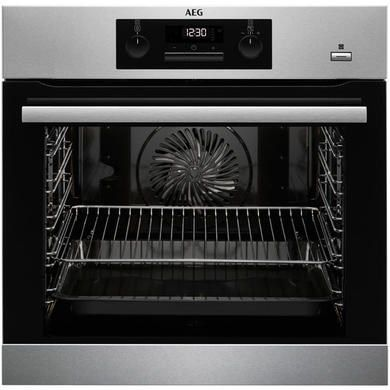 AEG BPS351020M SteamBake Pyrolytic Multifunction Oven Stainless Steel