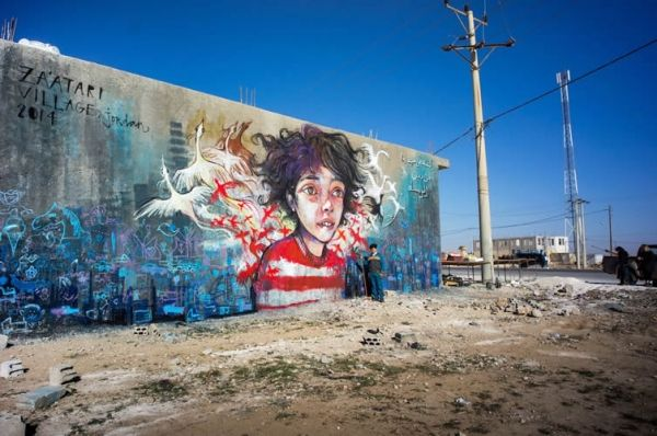 A street art project paints a brighter future for Syrian refugee camps