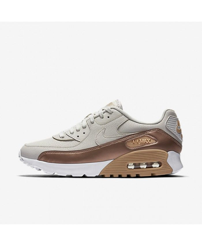 new arrival 77890 16a95 Cheap Nike Air Max 90 Ultra Se Light Bone White Metallic Red Bronze Mens