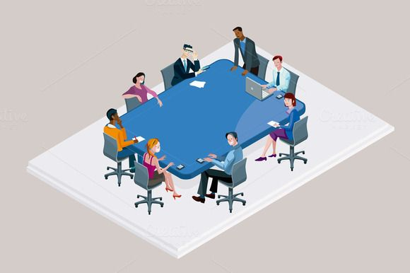 Office Meeting with Conference Table