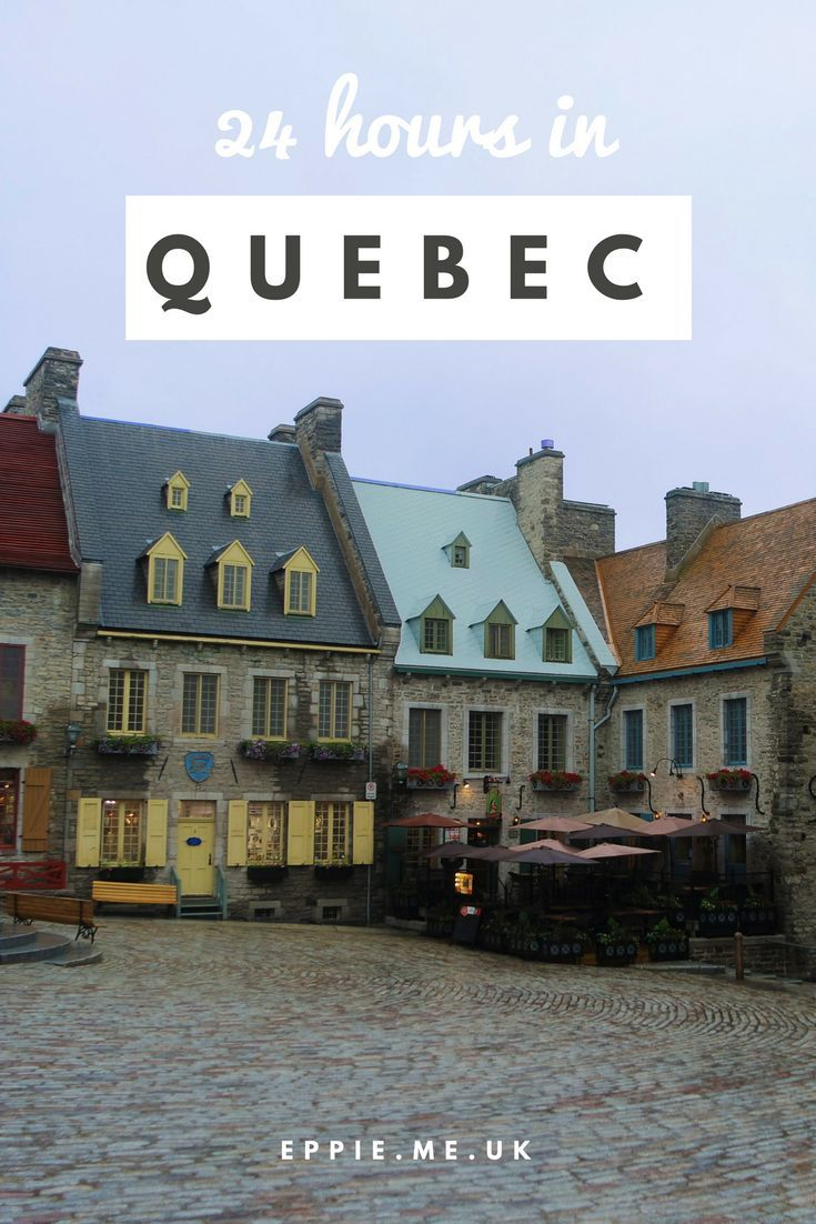 A guide to 24 hours in Quebec City in Canada including restaurant recommendations, shops and the Fairmont Le Château Frontenac