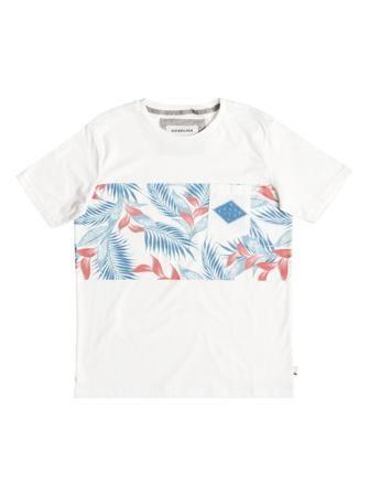 Quiksilver  — 1990р. ------------------------------------------- Тонкая, легкая и мягкая джерси так приятна к коже! А приглушенный цветочный гавайский принт на груди делает эту короткую футболку для мальчиков отличным выбором на каждый день как весной, так и летом. Нагрудный карман и ярлык с изнанки с надписью I Am The Next Surf Hero («Я стану новой звездой серфинга») довершают образ.
