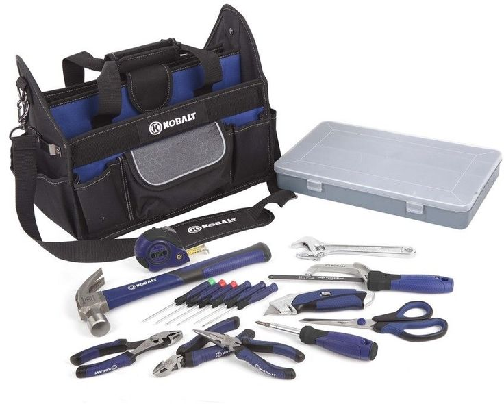 Kobalt 22-Piece Household Tool Set With Soft Case Home Repair Kit Mixed