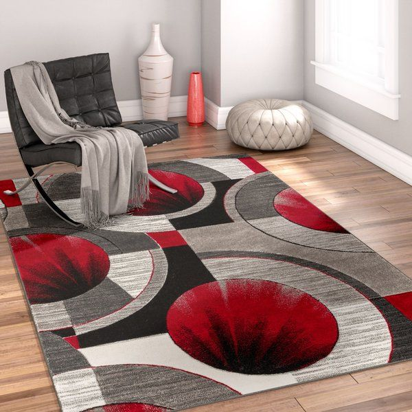 Yolo Red Gray Area Rug Area Rugs Grey Red Living Room Area