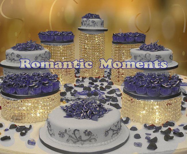 7pcs Big Size Cake Holders Wedding Crystal Cake Stand Wedding Centerpiece Cake Display Cake Stand Wedding Centerpiece Crystal Cake Stand Wedding Columns