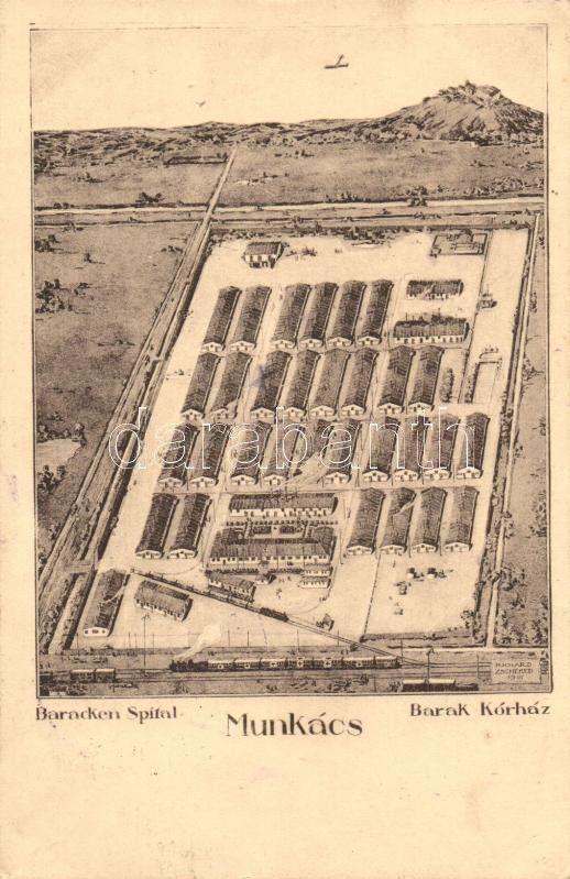 Munkács, Mukacheve; Barak kórház / military hospital