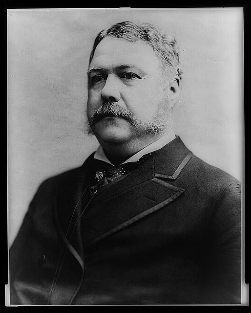 Chester A. Arthur, 21st President of the United States (1881-1885).  Photo by C.M. (Charles Milton) Bell, 1882.  Library of Congress Prints and Photographs Division.