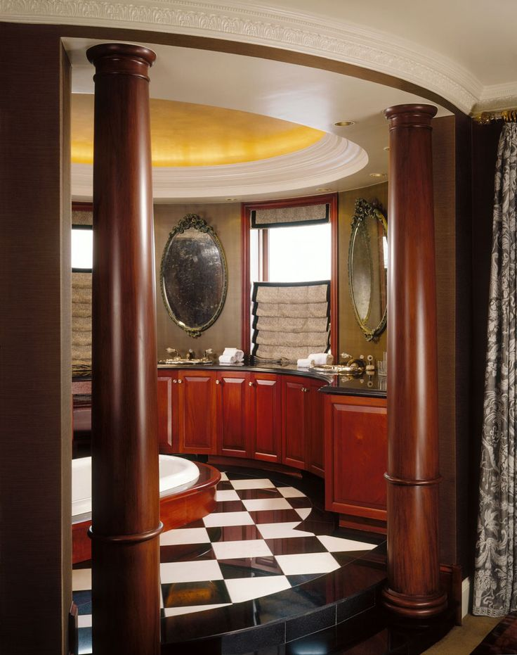 Master Bath housed in turret of a landmarked residence