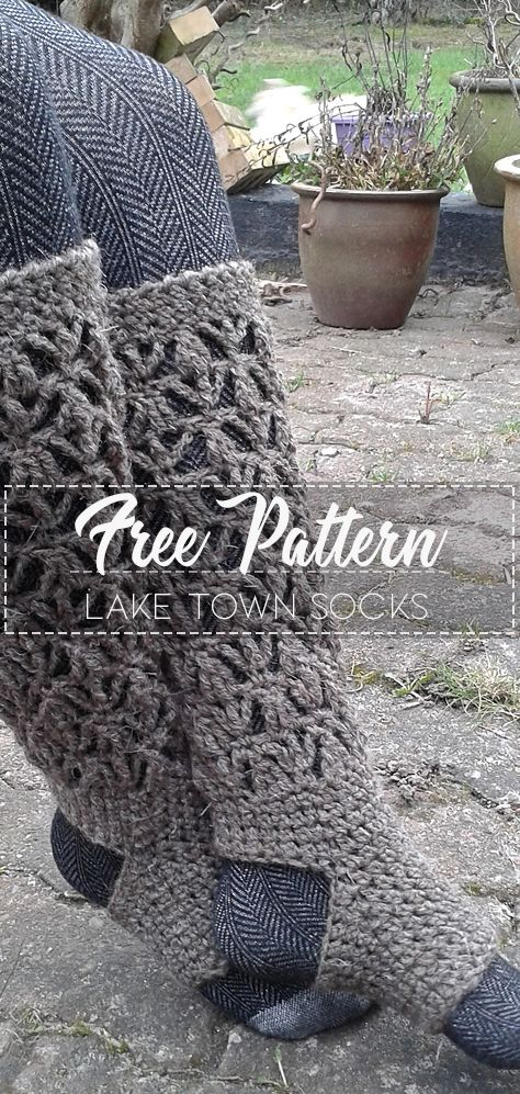 Lake Town Socks – Pattern Free – Easy Crochet