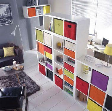 Cloison amovible Ikea multi casiers rangement