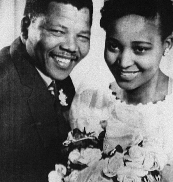 Нельсон Мандела и Винни Мандела.