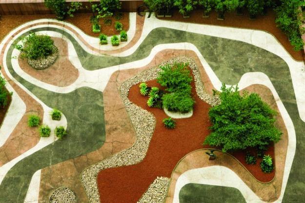 Sao Paulo rooftop garden designed by Roberto Burle Marx in the 1980s