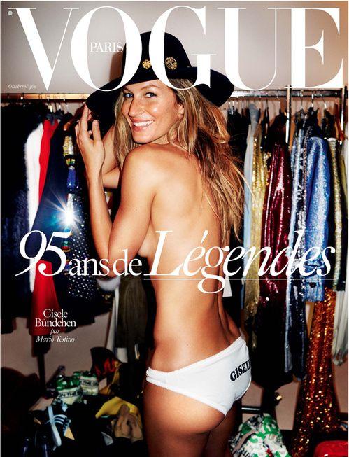 Gisele Bündchen par Mario Testino pour les 95 ans de Vogue Paris