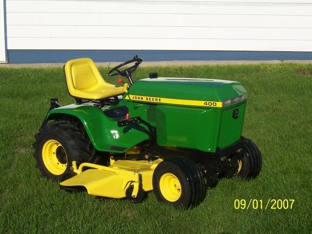 John Deere 400 Garden Tractor Attachments : Best images about garden tractors on pinterest john