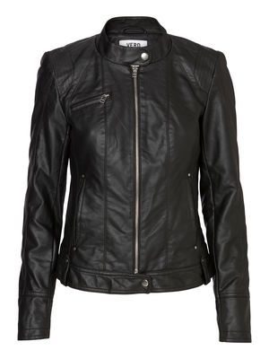 DAWN SHORT PU JACKET NOOS, Black, main now on sale for £25!