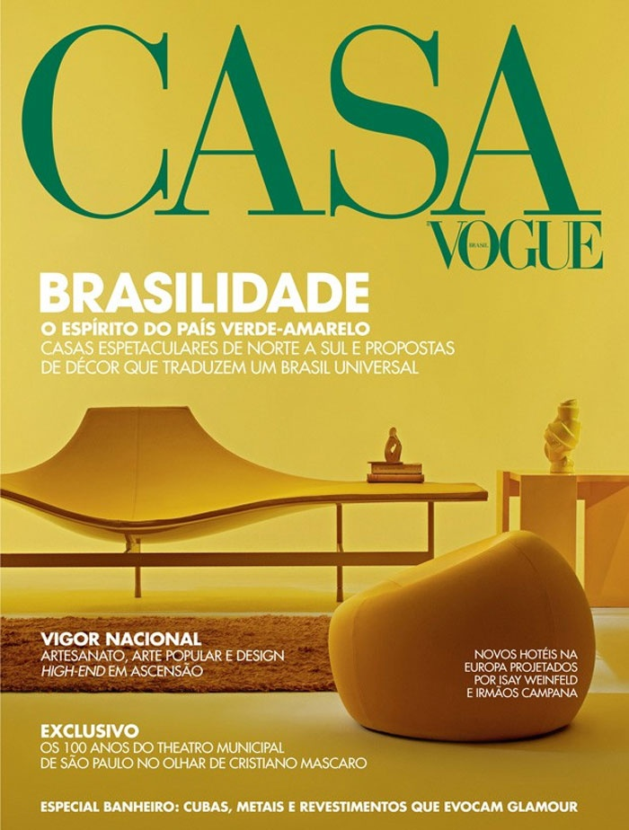 award winning cover of brazilian edition of casa vogue home decor magazine - Vogue Decor Magazine