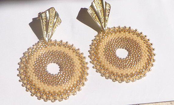 Tutorial orecchini Sabbia perline peyote circolare